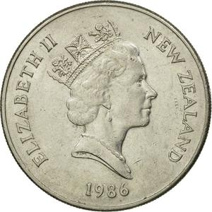 New Zealand / Twenty Cents 1986 - obverse photo