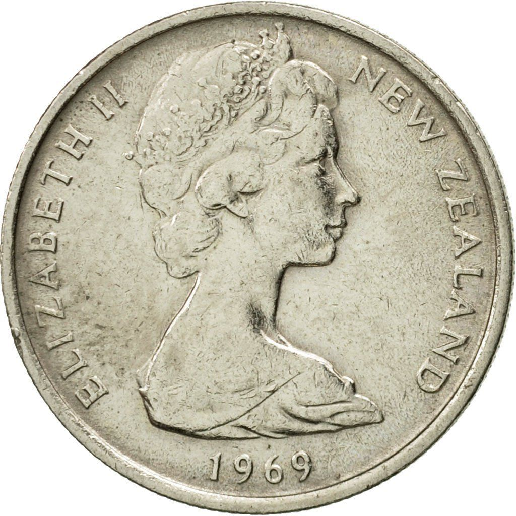 Five Cents 1969: Photo Coin, New Zealand, Elizabeth II, 5 Cents, 1969