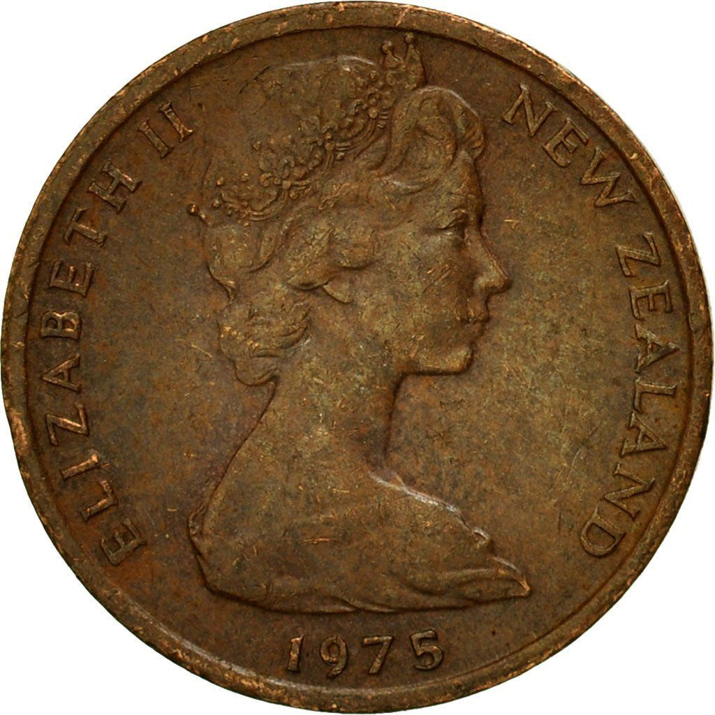 One Cent 1975: Photo Coin, New Zealand, Elizabeth II, Cent, 1975