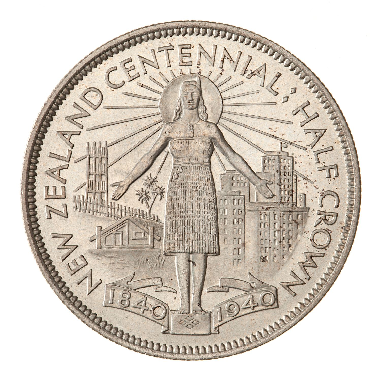 Half Crown: Photo Proof Coin - 1/2 Crown, New Zealand, 1940