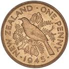 New Zealand / Penny 1945 - reverse photo