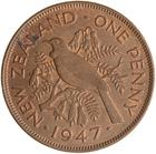 Penny 1947: Photo Coin - 1 Penny, New Zealand, 1947