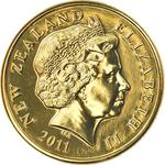 New Zealand / One Dollar 2011 (mints sets only) - obverse photo