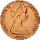New Zealand / Two Cents 1974 - obverse photo