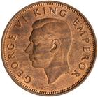 Halfpenny 1941: Photo Coin - 1/2 Penny, New Zealand, 1941