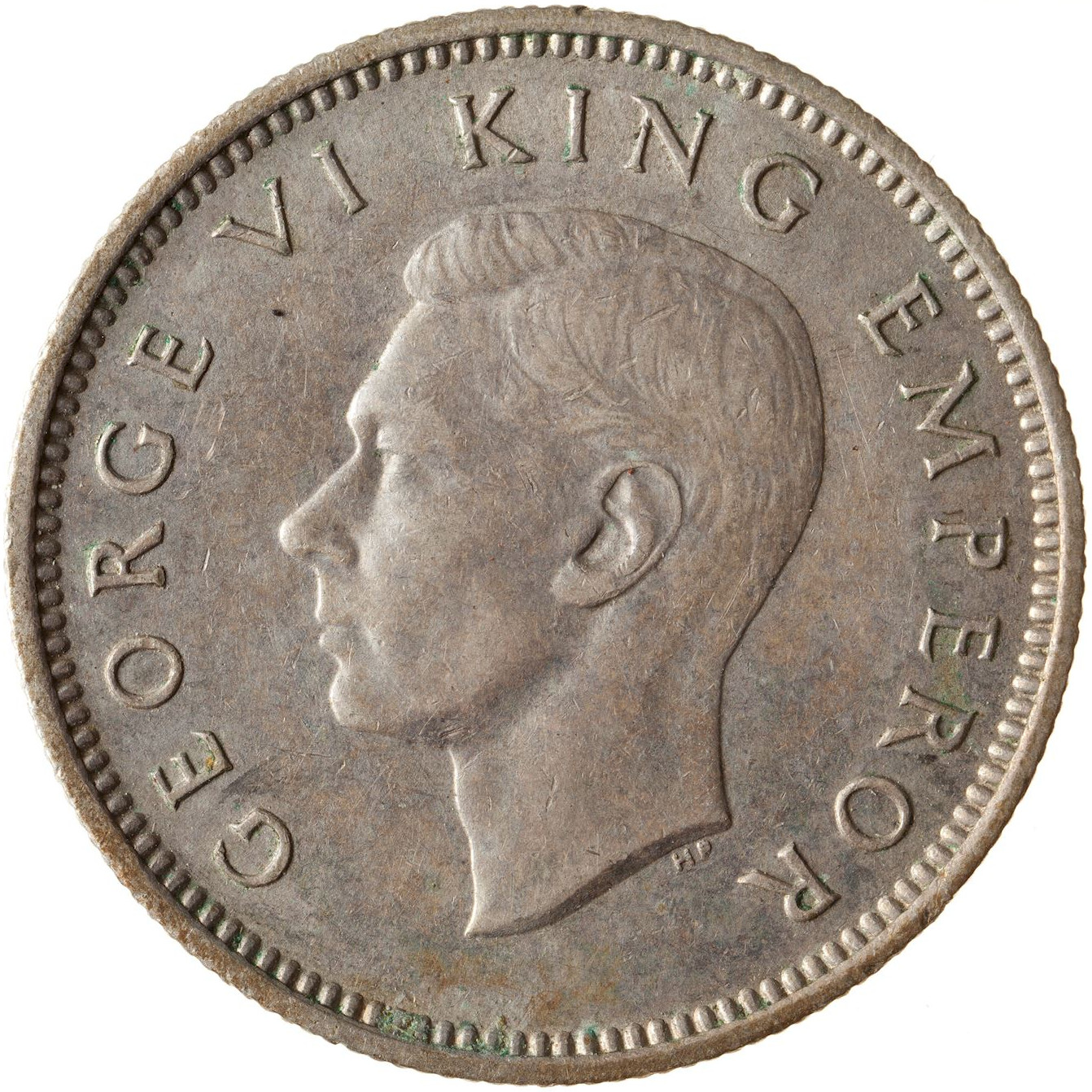 Sixpence 1944: Photo Coin - 6 Pence, New Zealand, 1944
