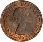 Halfpenny 1958: Photo Coin - 1/2 Penny, New Zealand, 1958