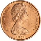 New Zealand / Two Cents 1967 - obverse photo