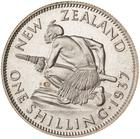 Shilling 1937: Photo Proof Coin - 1 Shilling, New Zealand, 1937