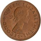 New Zealand / Halfpenny 1962 - obverse photo