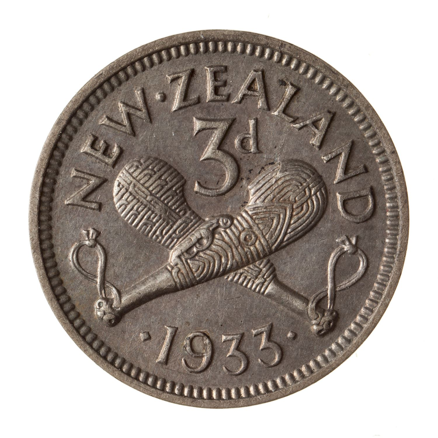 Threepence: Photo Coin - 3 Pence, New Zealand, 1933