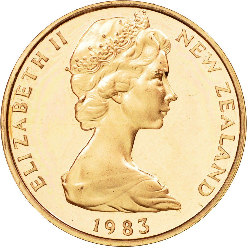 Two Cents 1983: Photo Coin, New Zealand, Elizabeth II, 2 Cents, 1983
