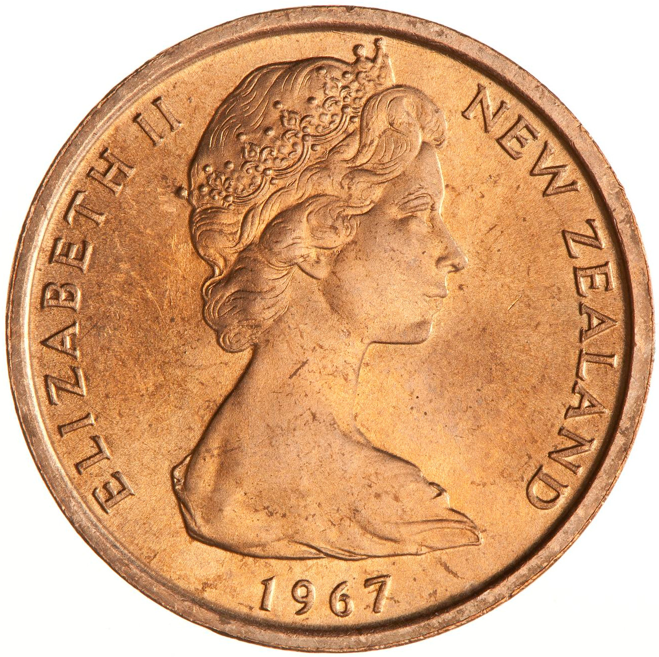 One Cent: Photo Coin - 1 Cent, New Zealand, 1967