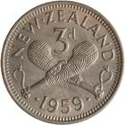 Threepence 1959: Photo Coin - 3 Pence, New Zealand, 1959
