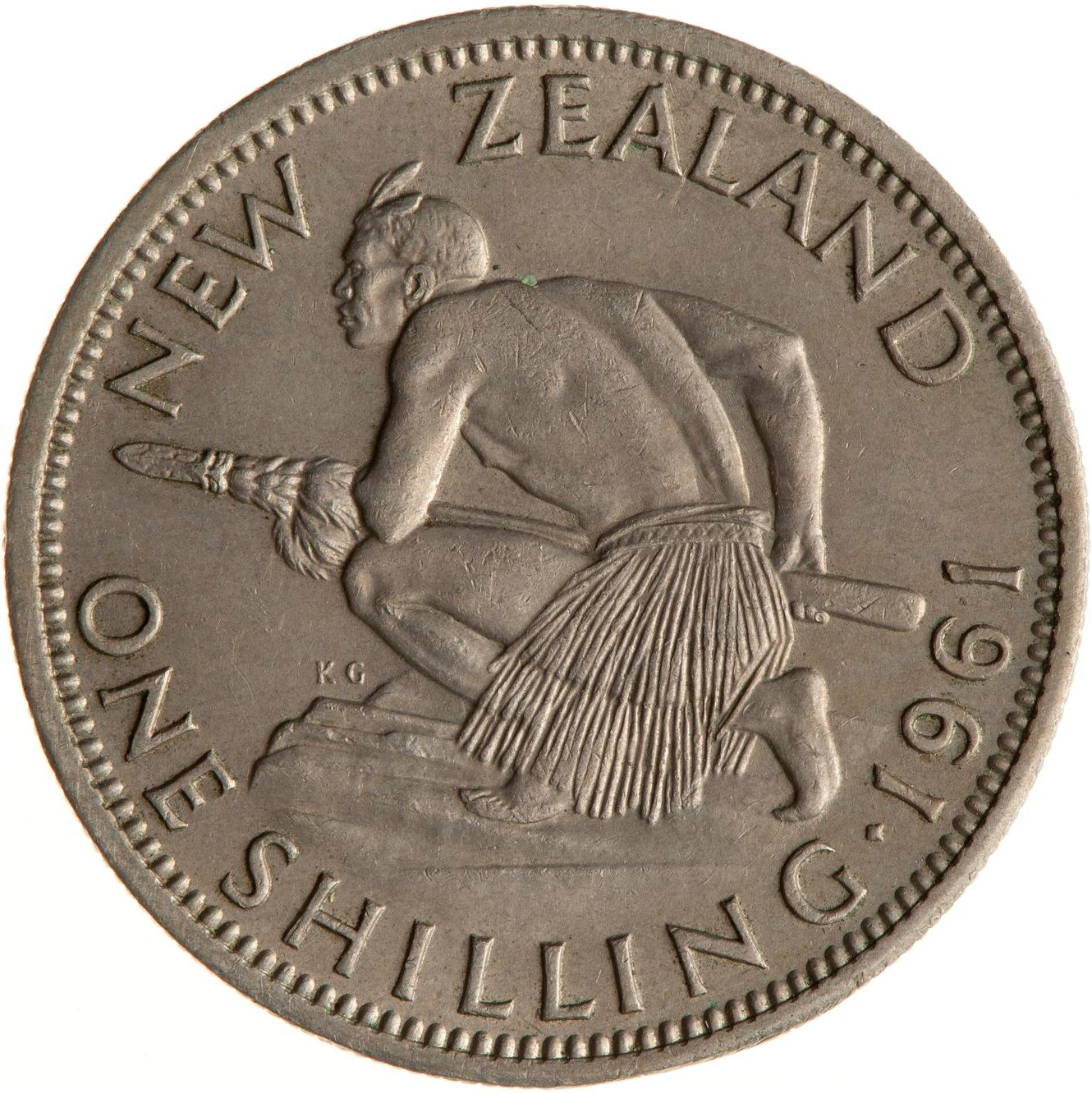 Shilling 1961: Photo Coin - 1 Shilling, New Zealand, 1961