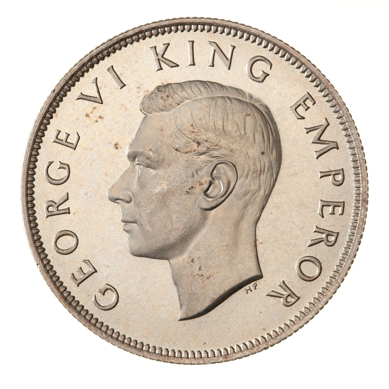 Half Crown (Silver): Photo Proof Coin - 1/2 Crown, New Zealand, 1940