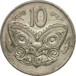 New Zealand / Ten Cents 1979 - reverse photo