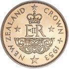 Coronation Crown 1953: Photo Proof Coin - Crown (5 Shillings), New Zealand, 1953