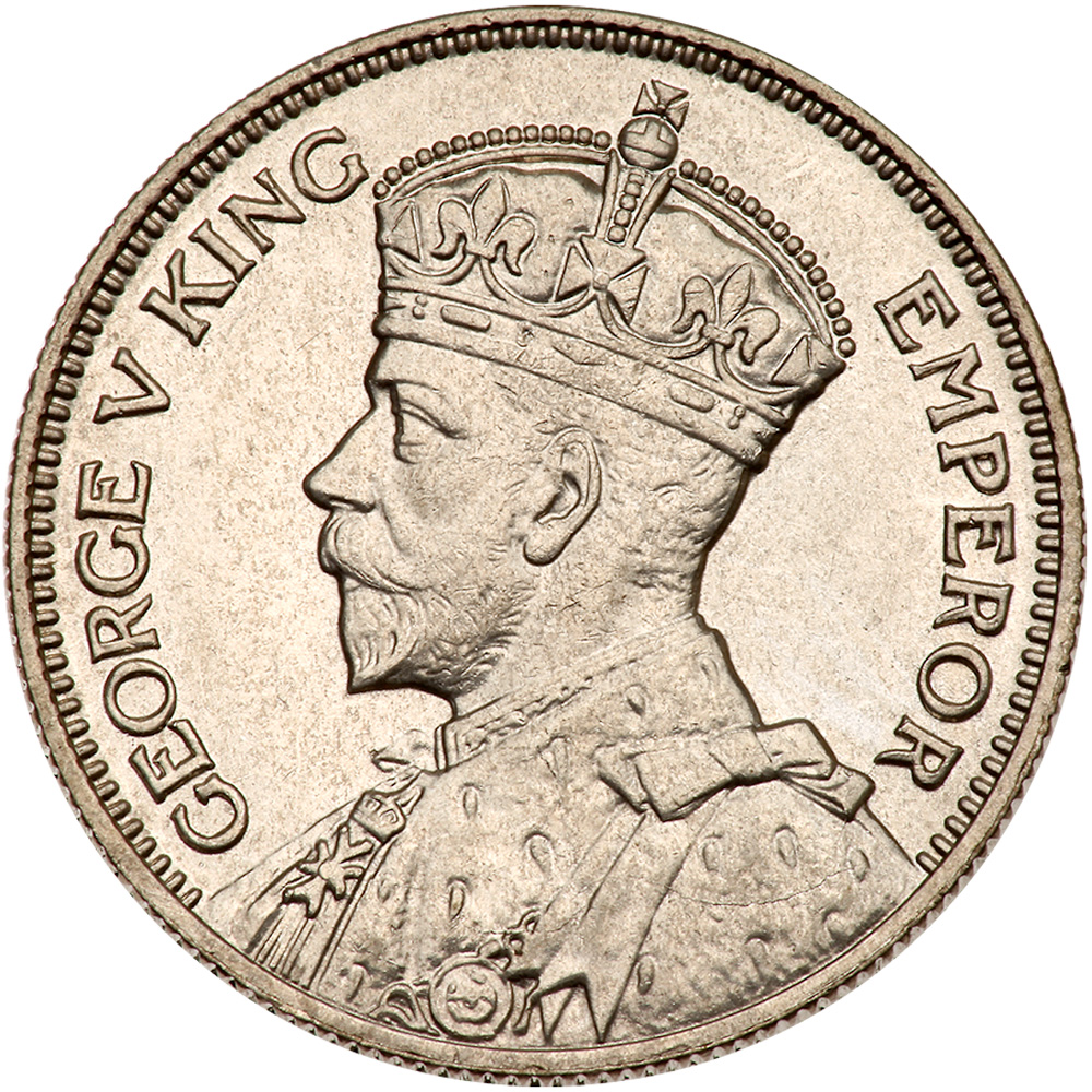 Shilling (Silver): Photo New Zealand 1934 shilling  Copyright: CoinFactsWiki / CC BY-SA