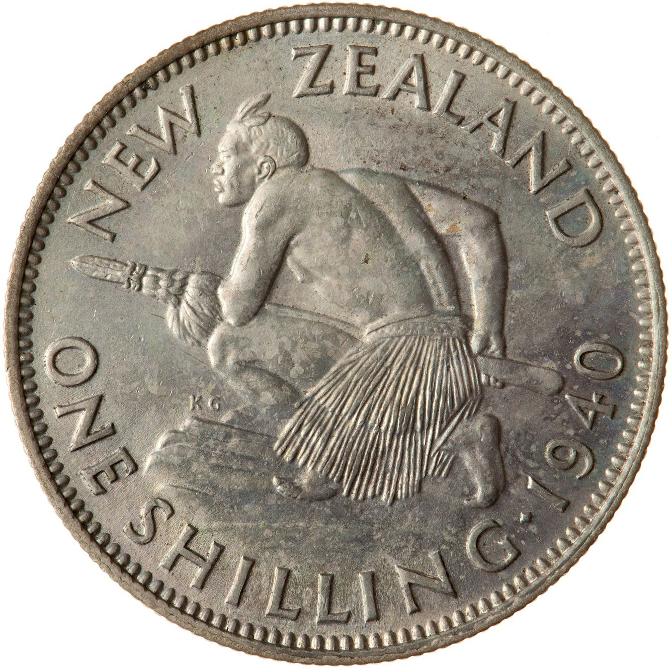 Shilling 1940: Photo Coin - 1 Shilling, New Zealand, 1940