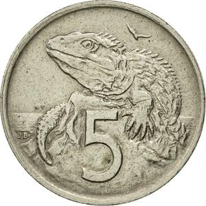 New Zealand / Five Cents 1969 - reverse photo