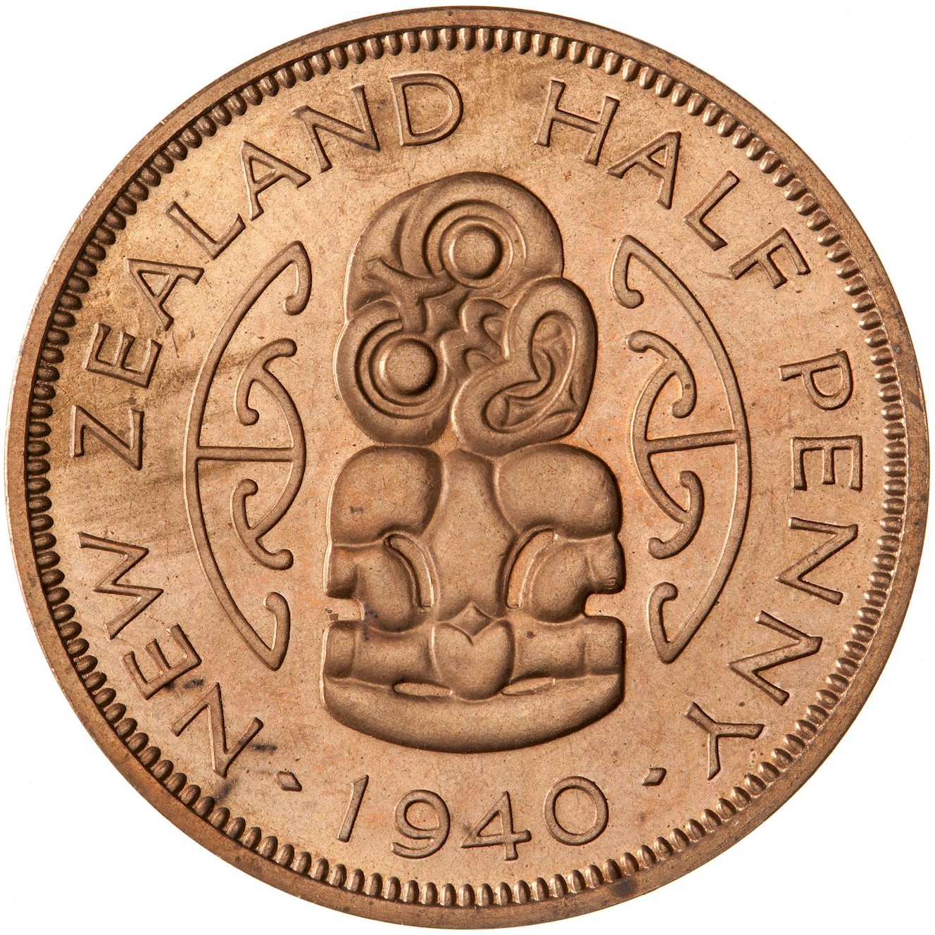 Halfpenny 1940, Coin from New Zealand - Online Coin Club