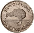 Florin 1935: Photo Proof Coin - Florin (2 Shillings), New Zealand, 1935
