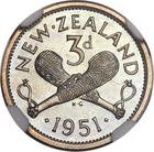 New Zealand / Threepence 1951 - reverse photo