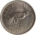 New Zealand / Sixpence 1961 - reverse photo
