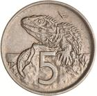 New Zealand / Five Cents 1970 - reverse photo