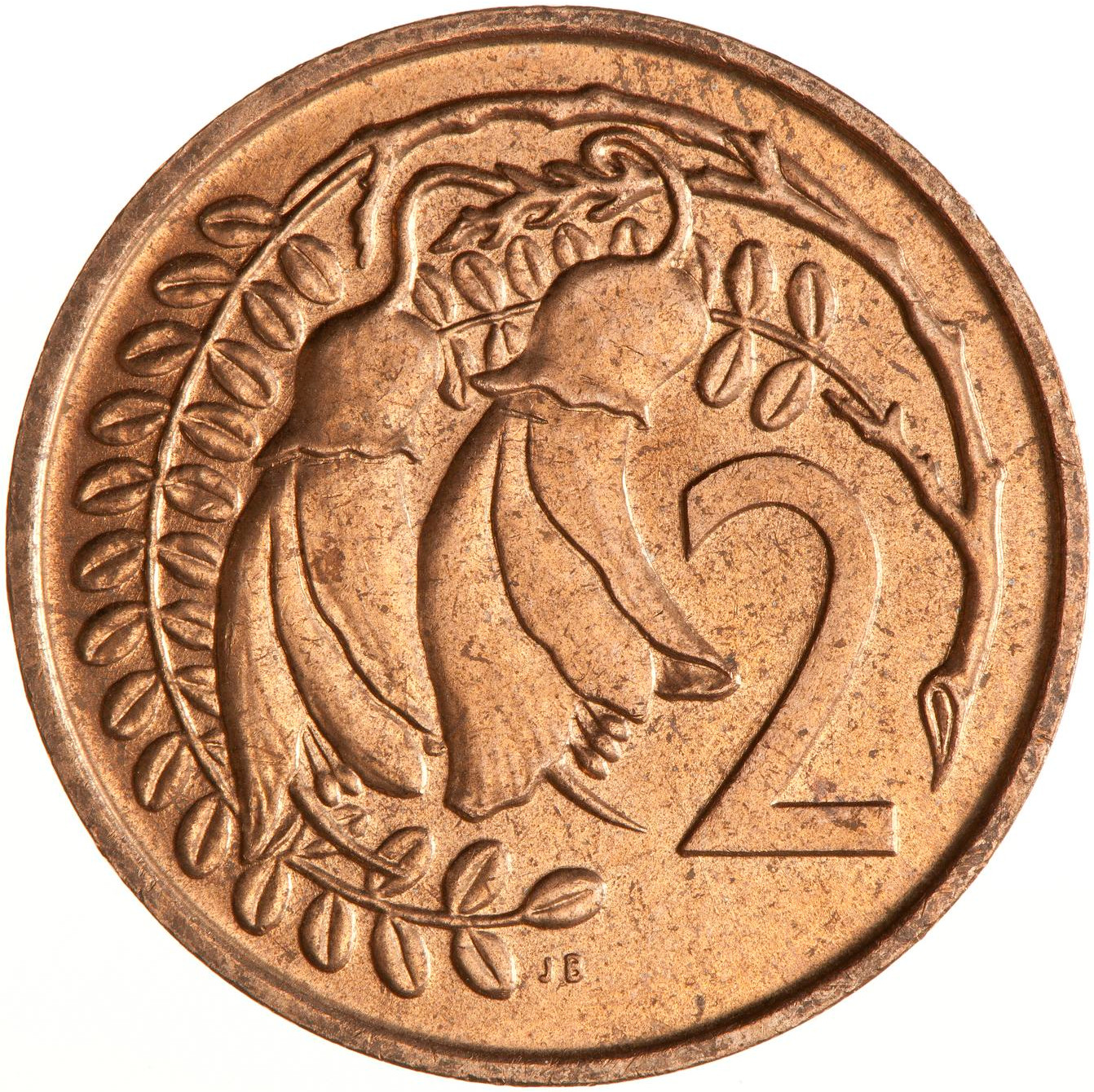 Two Cents 1967: Photo Coin - 2 Cents, New Zealand, 1967