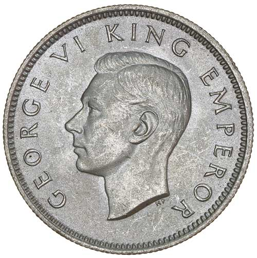 Shilling 1941: Photo GEORGE VI, shilling, 1941