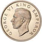 Florin 1947: Photo Proof Coin - Florin (2 Shillings), New Zealand, 1947