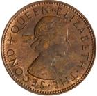 New Zealand / Halfpenny 1957 - obverse photo