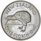 Florin 1946: Photo GEORGE VI, florin, 1946 type I, round back to kiwi