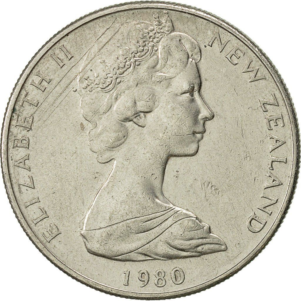 Ten Cents 1980: Photo New Zealand, Elizabeth II, 10 Cents, 1980