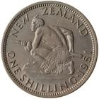 Shilling 1951: Photo Coin - 1 Shilling, New Zealand, 1951