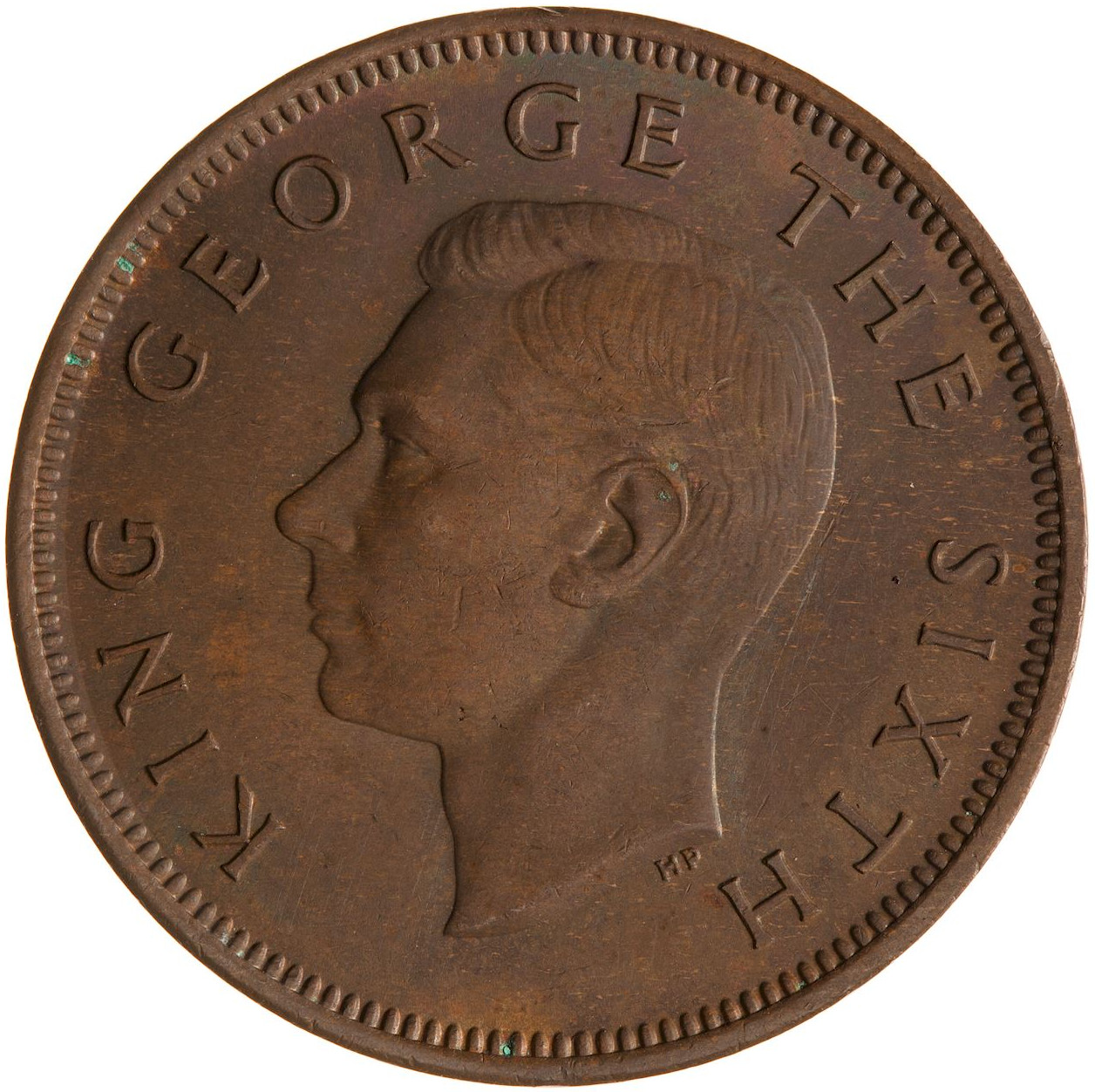 Halfpenny 1950: Photo Coin - 1/2 Penny, New Zealand, 1950