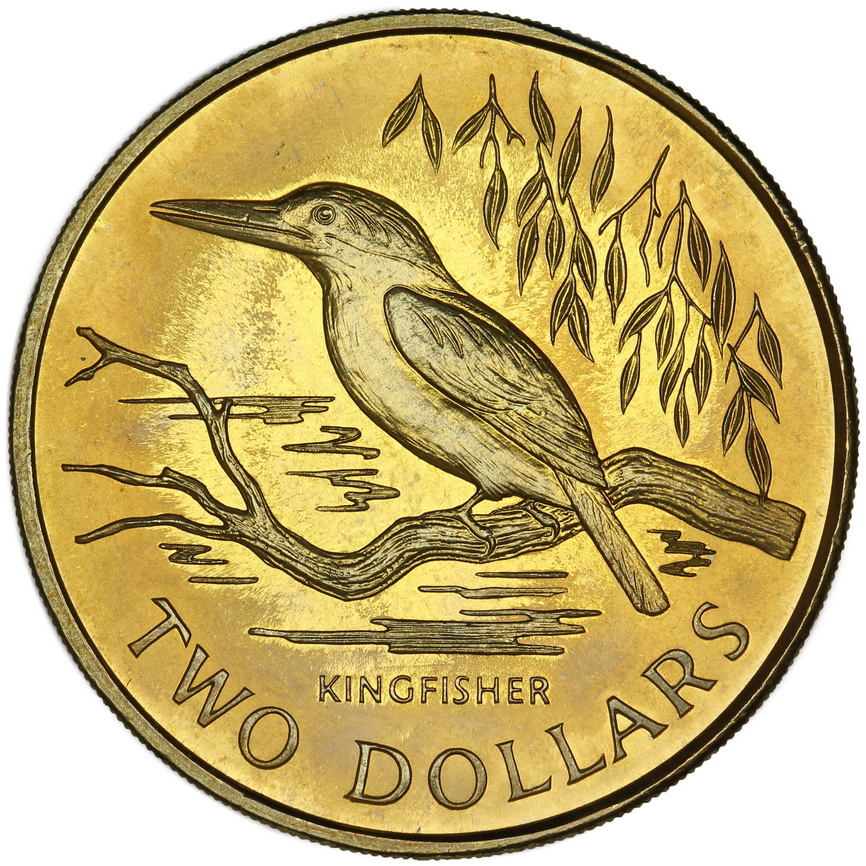 Two Dollars: Photo $2 1993 Kingfisher Type