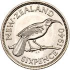 Sixpence 1940: Photo New Zealand 1940 6 pence