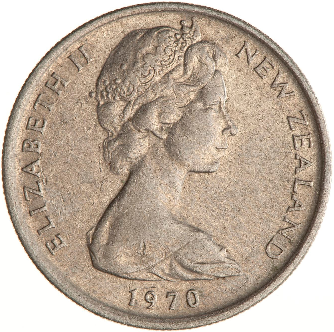 Five Cents 1970: Photo Coin - 5 Cents, New Zealand, 1970