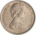 New Zealand / Five Cents 1970 - obverse photo