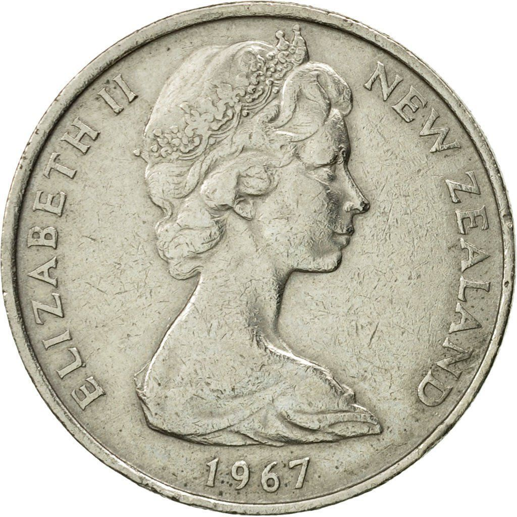 Ten Cents 1967: Photo Coin, New Zealand, Elizabeth II, 10 Cents, 1967