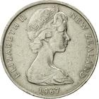 New Zealand / Ten Cents 1967 - obverse photo