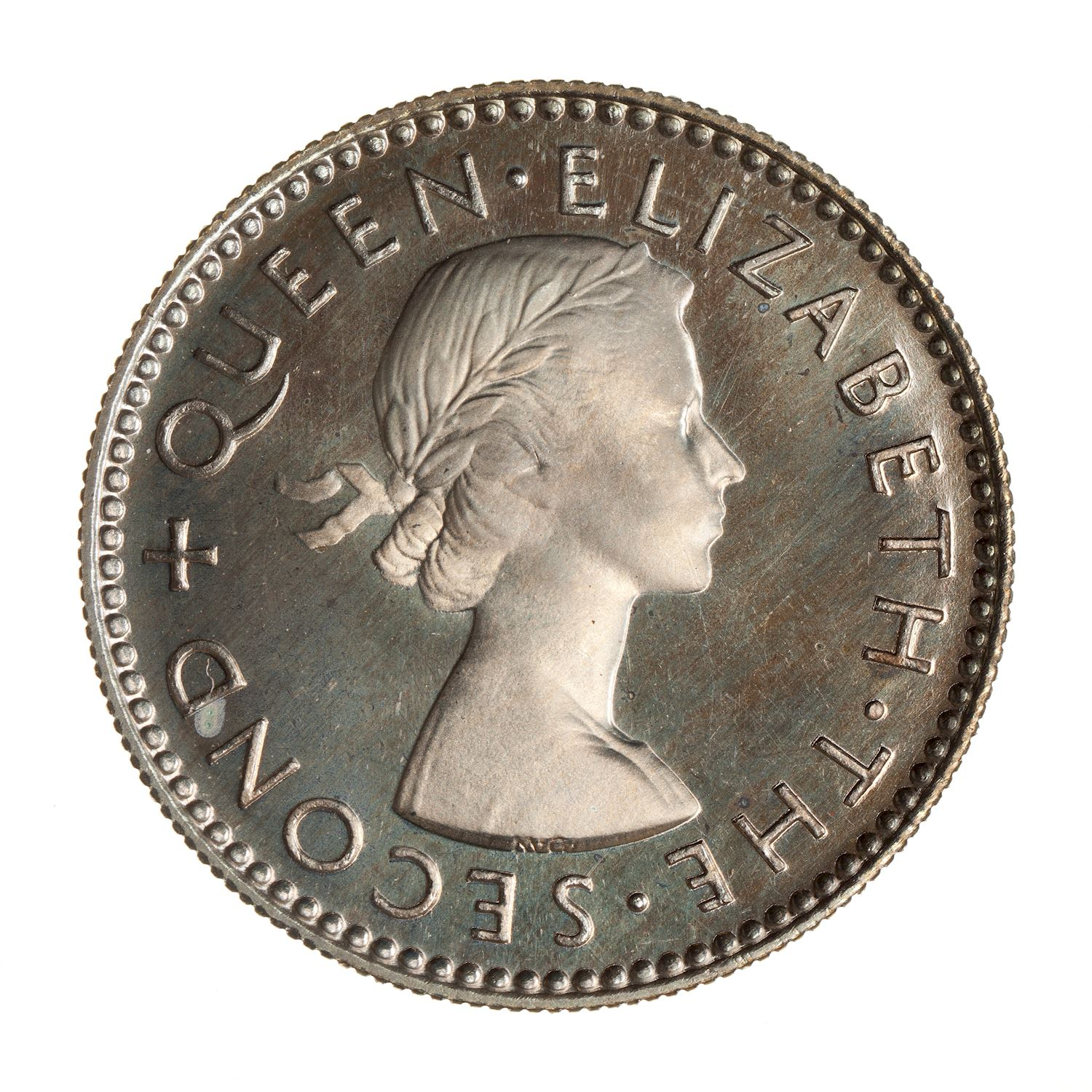Sixpence: Photo Proof Coin - 6 Pence, New Zealand, 1953