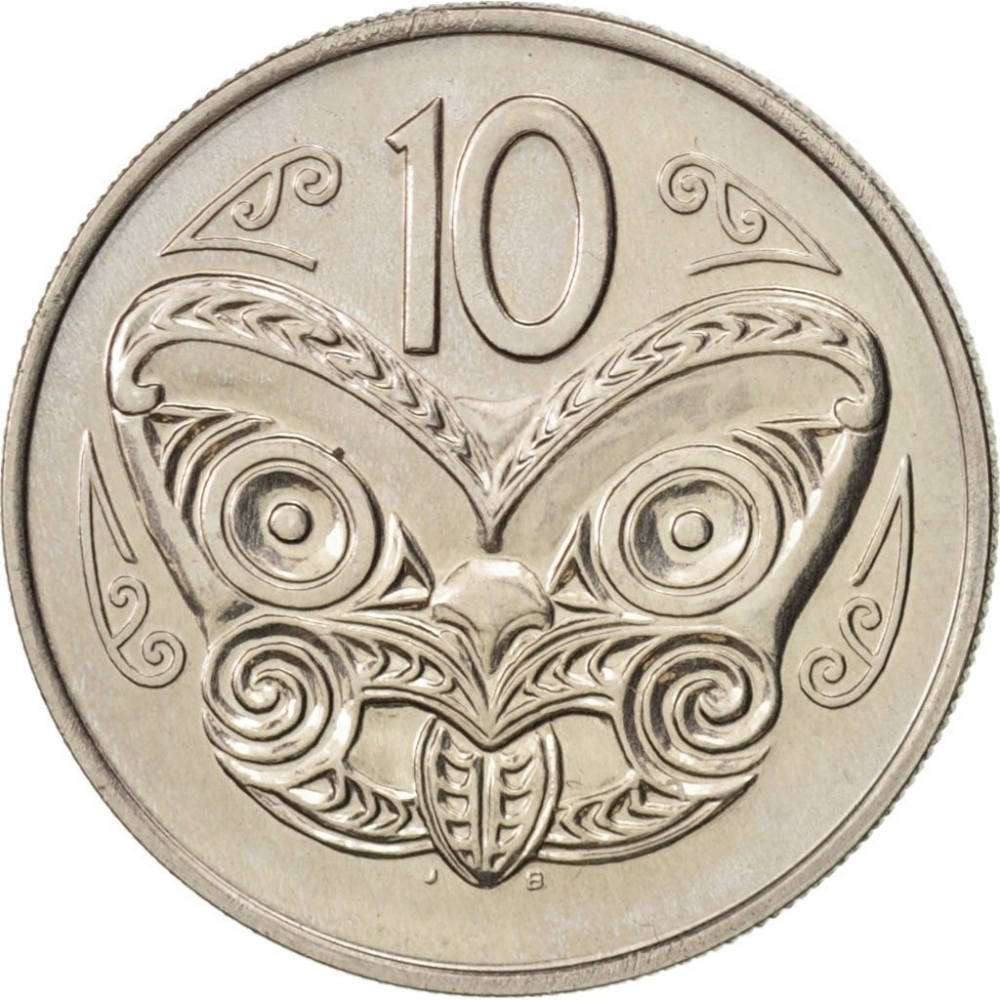 Ten Cents 1970: Photo Coin, New Zealand, 10 Cents 1970