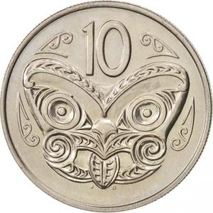 New Zealand / Ten Cents 1970 - reverse photo
