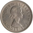 New Zealand / Sixpence 1960 - obverse photo