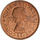Halfpenny 1961: Photo Coin - 1/2 Penny, New Zealand, 1961
