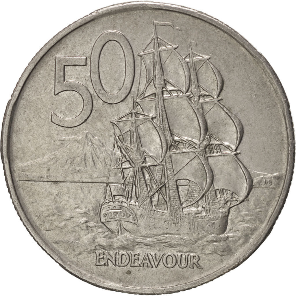 Fifty Cents 1975: Photo New Zealand, 50 Cents, 1975